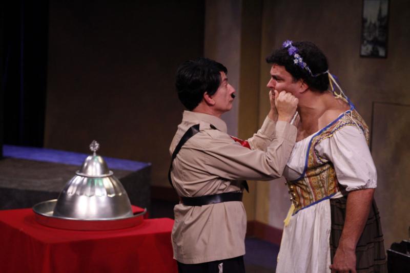 Chris Flieller (Hitler) and Dough Jarecki (Eva Braun).
