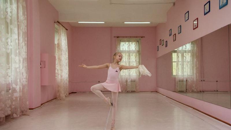 """A still from Rineke Dijkstra's """"Rehearsals."""""""