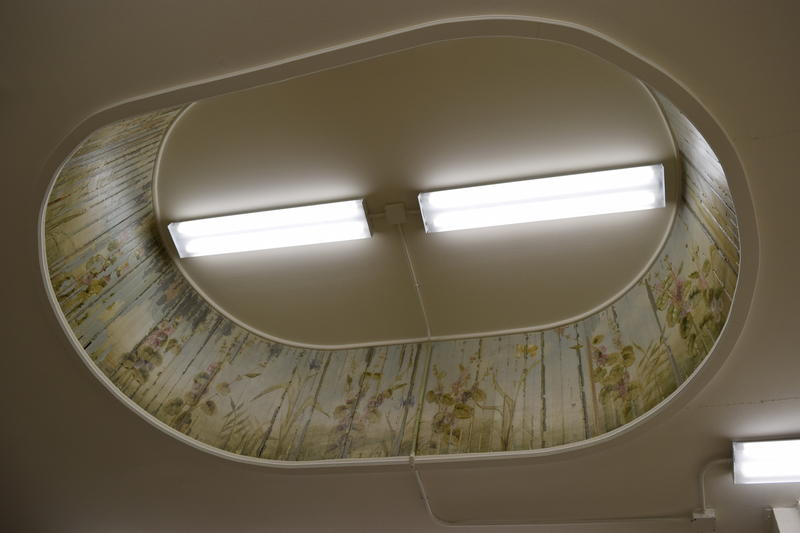 Former skylight in Iannelli's Custom Shoppe, dating back to orginal Marble Hall.