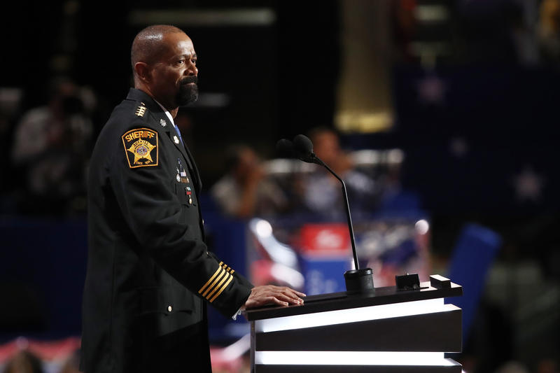 : Milwaukee County Sheriff David Clarke at the Republican National Convention on July 18, 2016.