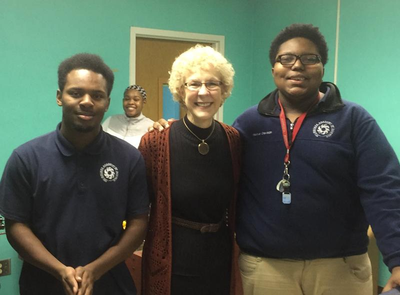 City on a Hill Executive Director Diane De La Santos visits one of the organization's afterschool programs
