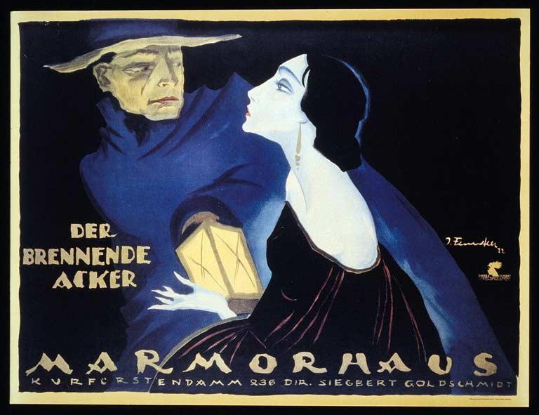 Josef Fenneker (Germany, 1895-1956) Reissue of original poster for The Burning Soil (Der brennende acker), c. 1922 Director: Friedrich Wilhelm Murnau (Germany, 1888–1931)