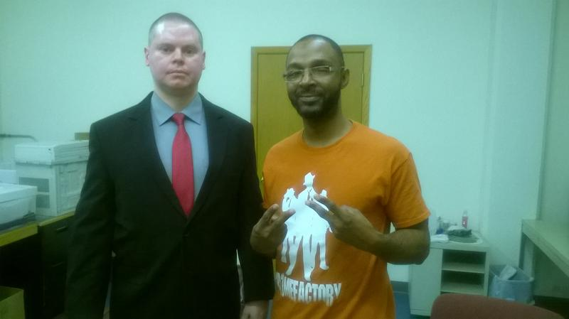 Mark Rice (left) and Ventae Parrow (right) say people should not be sent back to prison unless convicted of a new crime