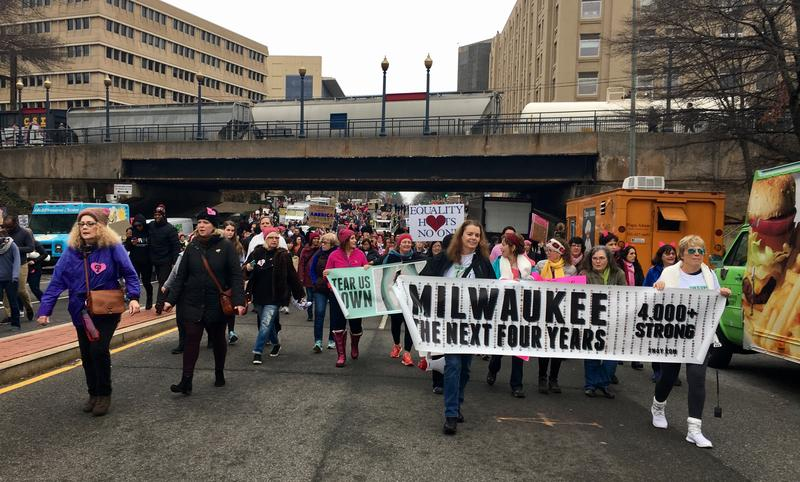 A group of Milwaukeeans marching in Washington D.C.