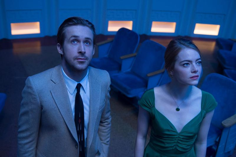 "Ryan Gosling and Emma Stone star in the musical, ""La La Land."""