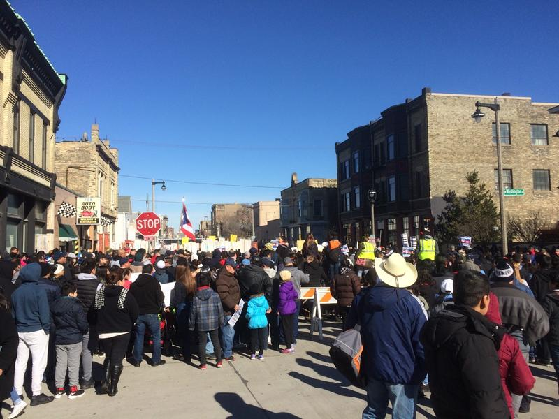 Monday's March for Immigration Rights in Milwaukee.