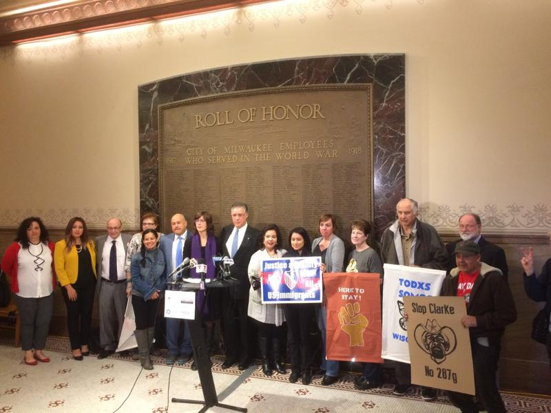 Representatives of Milwaukee's immigrant communities held a news conference at City Hall