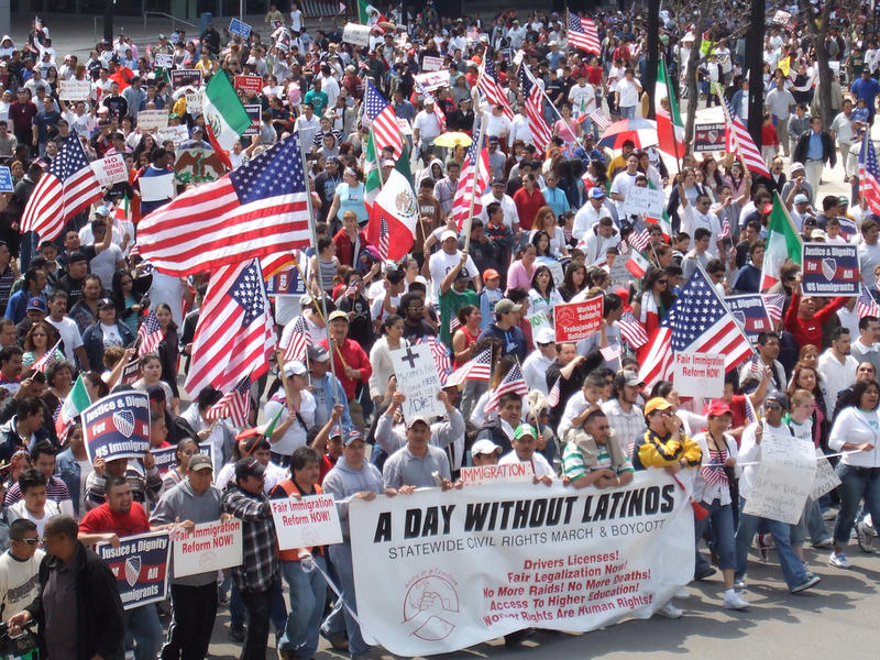 A Day Without Latinos March, Milwaukee, 2007.