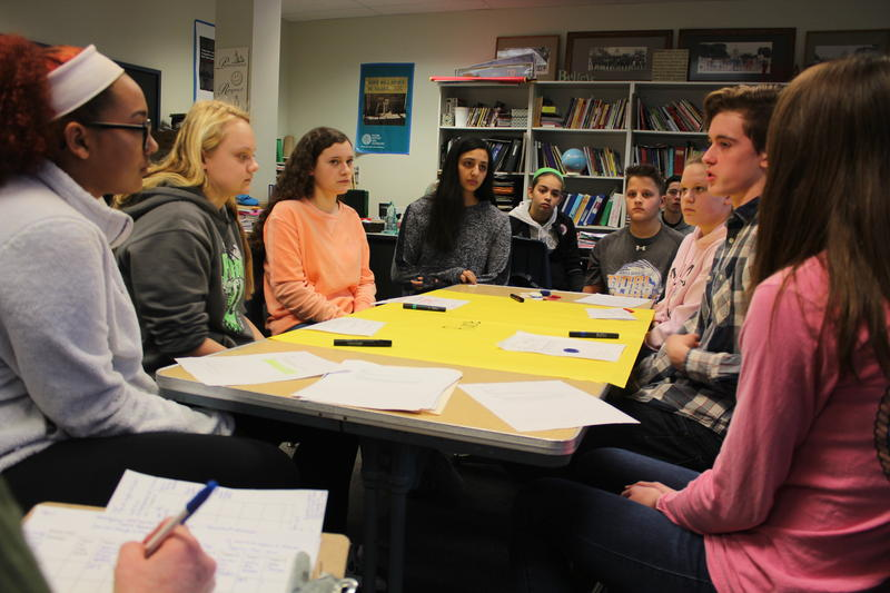 Eighth grade students at Greendale Middle School regularly discuss race during social studies lessons.