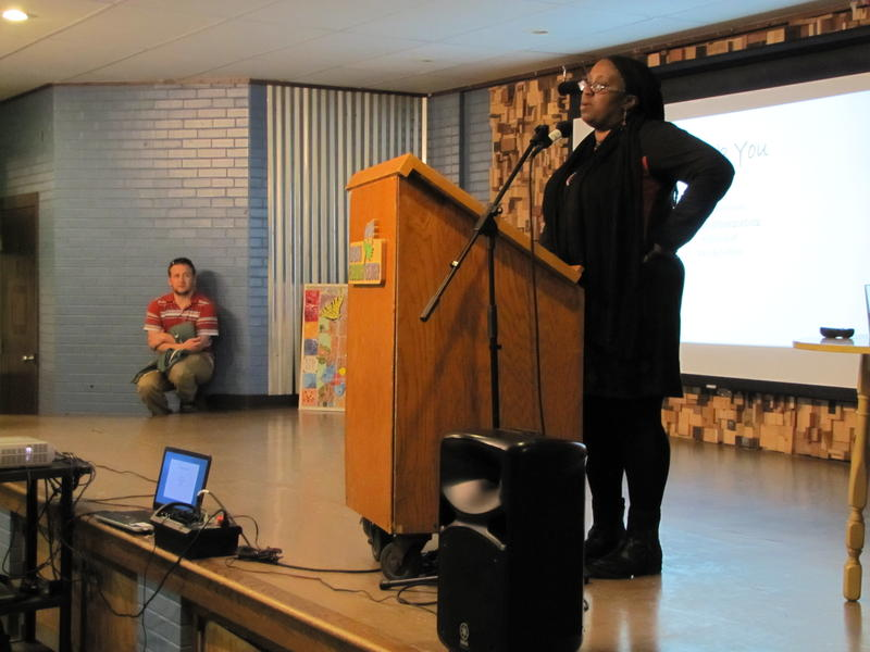 Jacqui Patterson spoke February 21 at the Urban Ecology Center in Washington Park