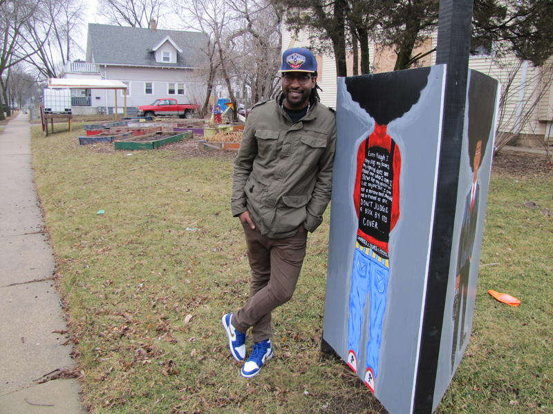 Groundwork Milwaukee's Antoine Carter says one of the beauty's of this community garden is that neighbors decided what they wanted, including its seven murals.