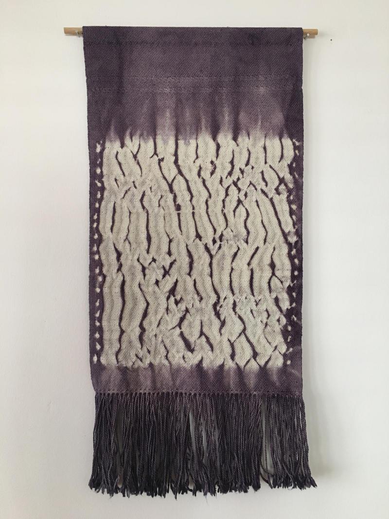 """Some Loud Thunder"", Handwoven Shibori Tapestry"