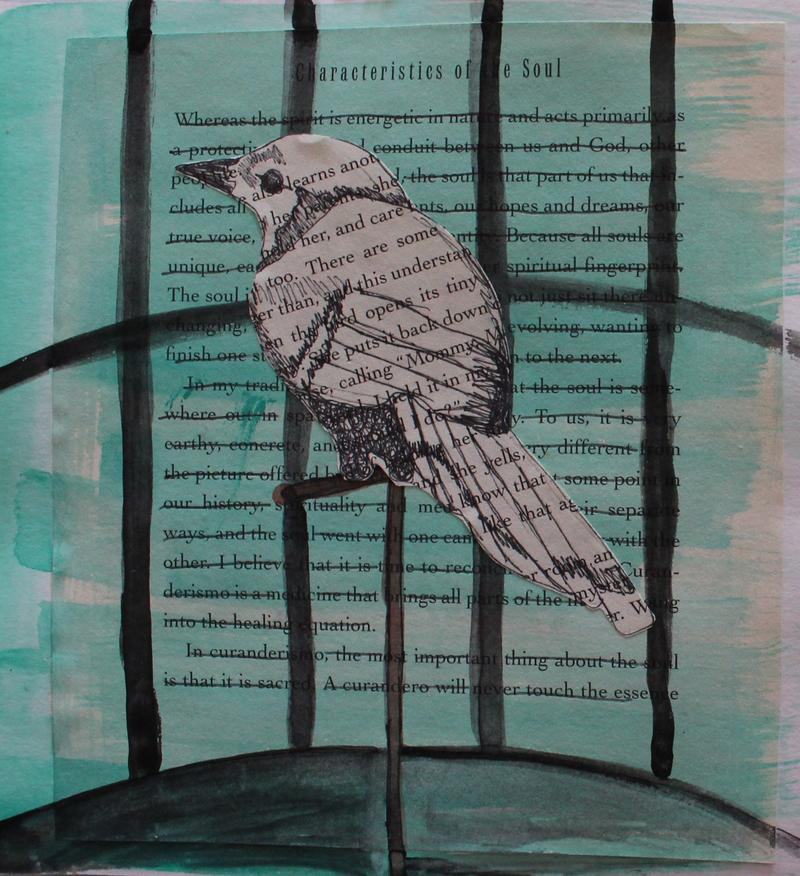 An example of artwork created in response to clients who are working through traumatic experiences.