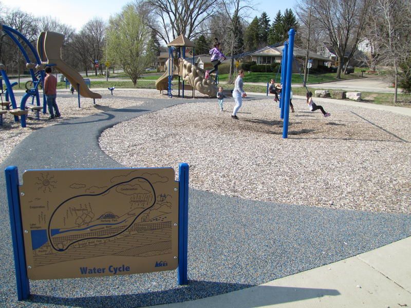 The park blends  education with  play.