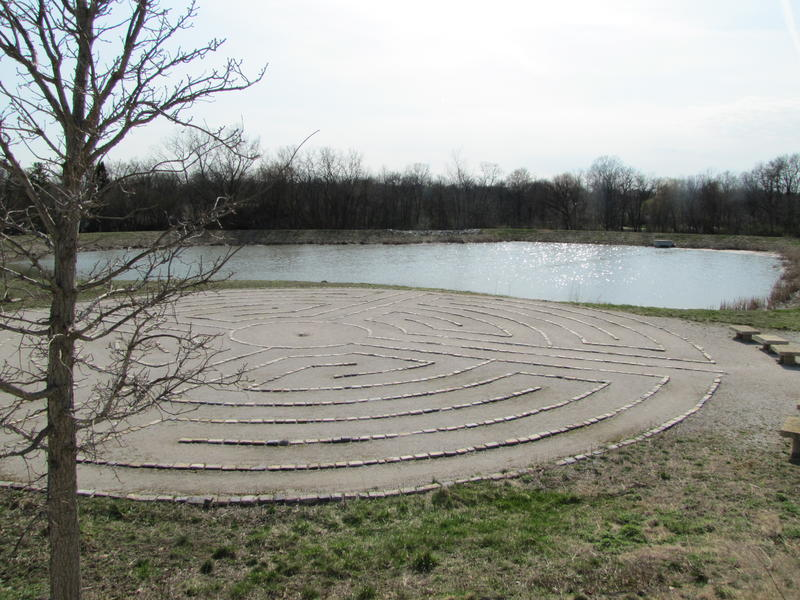 Hartung Park features a pond that can handle 5 million gallons of stormwater as well as a labryrinth.