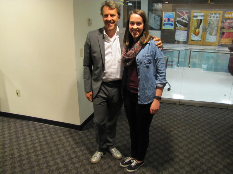 Mechanical engineering student Jessica Hufford invited No Impact Man Colin Beavan to kick off UWM's No Impact Challenge.