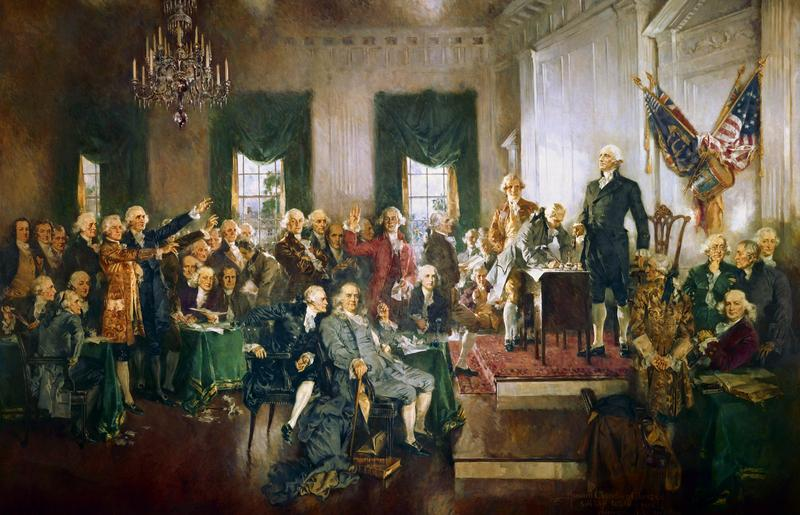 """Scene at the Signing of the Constitution of the United States."""