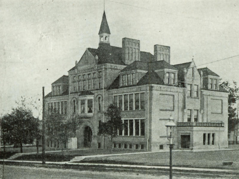 Historic photo of Trowbridge Street School, which is, of course, located on East Trowbridge Street in Milwaukee.