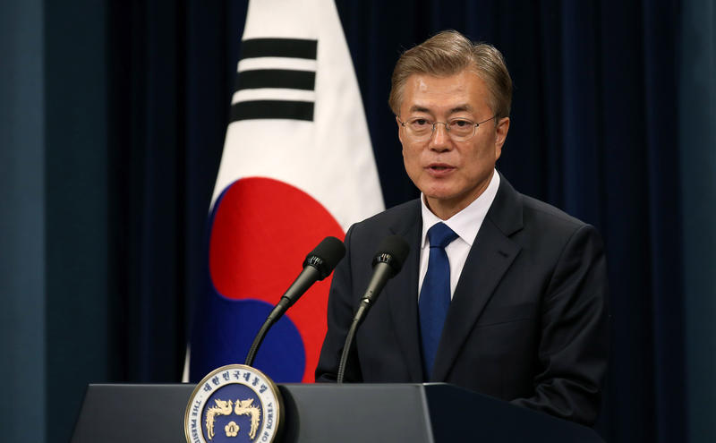 Moon Jae-in the 19th President of Republic of Korea, at his first press conference.
