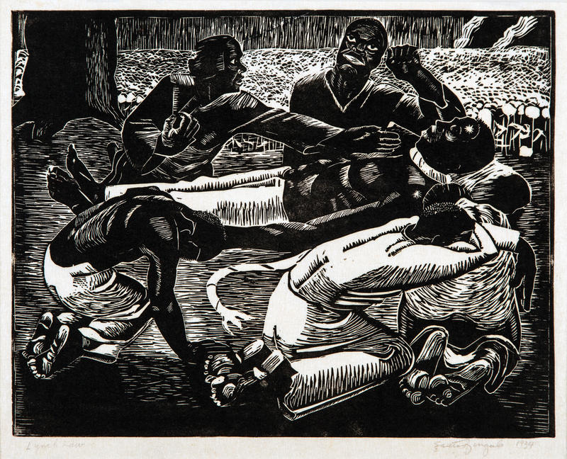 """Lynch Law"" 1934, Woodcut"