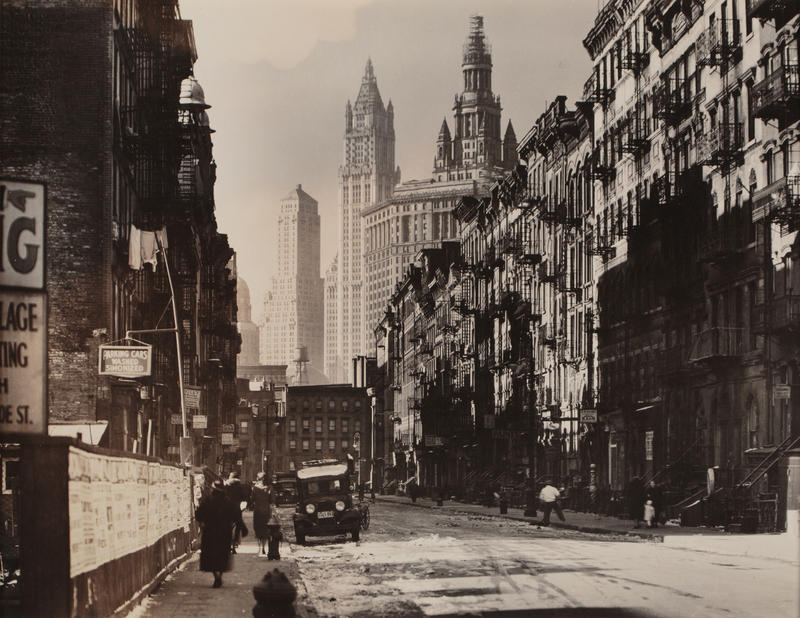 """Henry Street Looking West from Market Street"" 1935, Silver gelatin print"