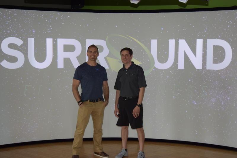 Garrett Stangel of Balance Fitness (left) and John LaDisa of Surround Fit and Wellness