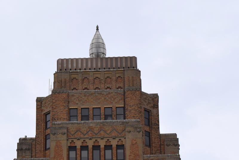 The Wisconsin Gas Light Building's flame.