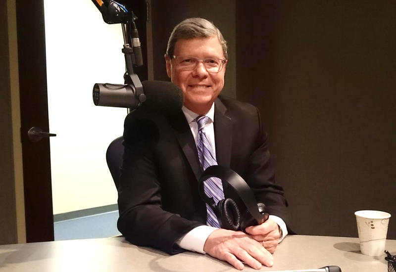 Charlie Sykes in the Lake Effect studio.