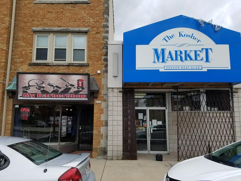 Sherman Park's neighboring businesses My Barbershop and Kosher Meat Klub