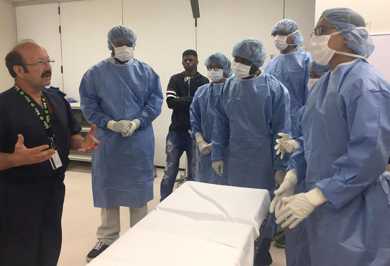"Male students explored a different medical career each day of a week-long camp promoting ""non-traditional occupations"" at MATC."