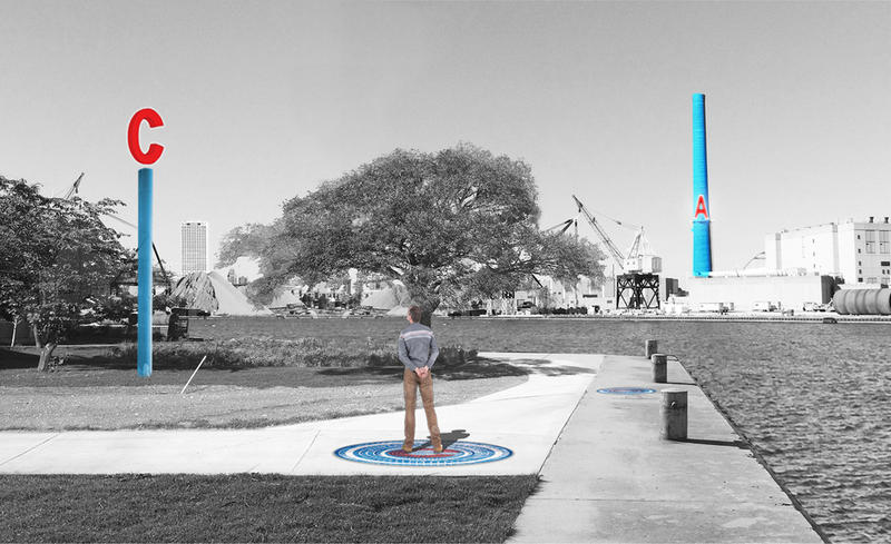 "Artist Mary Miss hopes her ""watermarkers"" will help highlight the importance of water in Milwaukee."