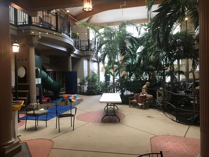 The St. Ann Atrium is one place the young and old mix