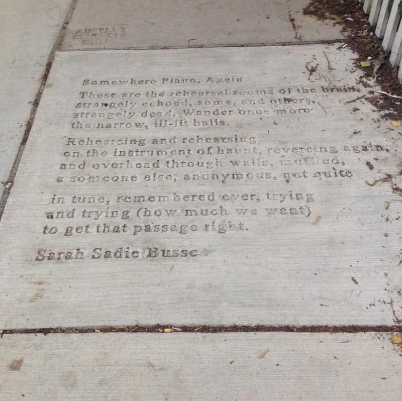 """Sarah Sadie Busse's poem, """"Somewhere Piano Again."""""""