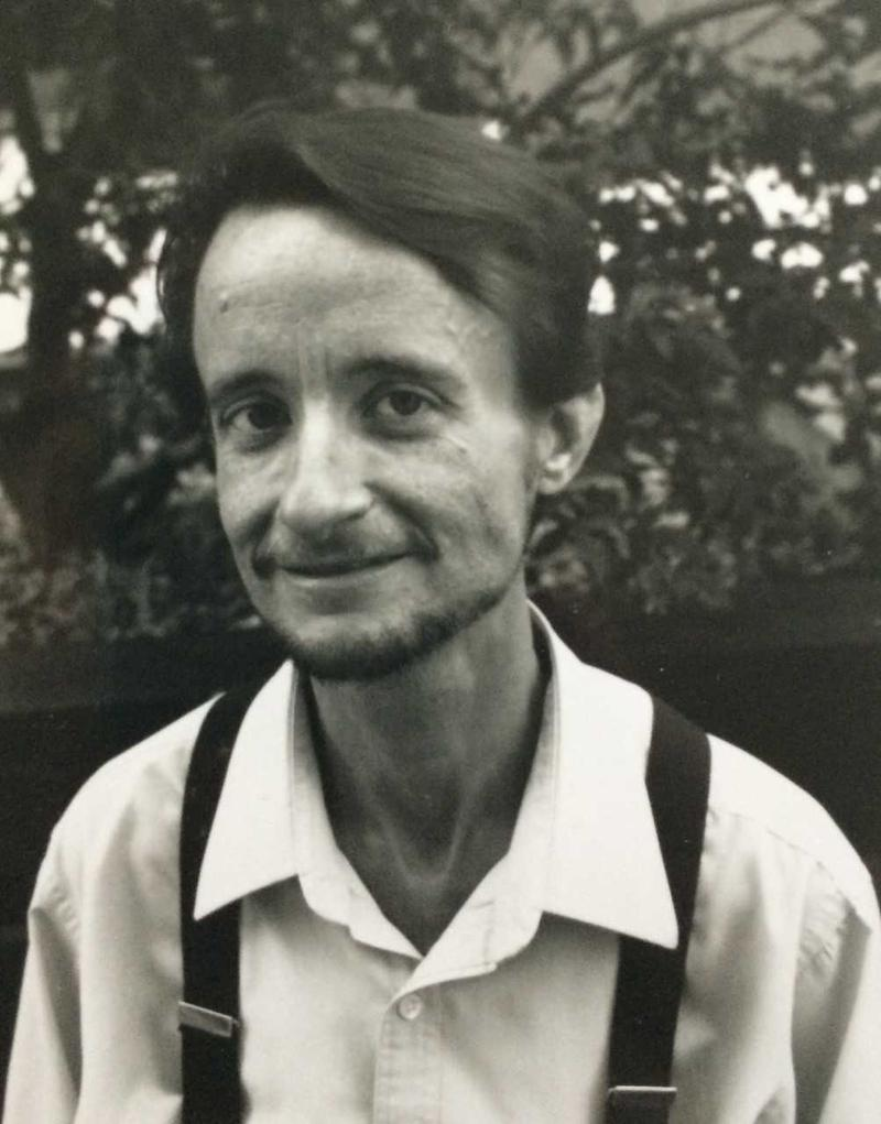 Lou Sullivan in 1989, living with AIDS. One of his concerns about wasting syndrome was localting muscle in his thigh for testosterone injections.