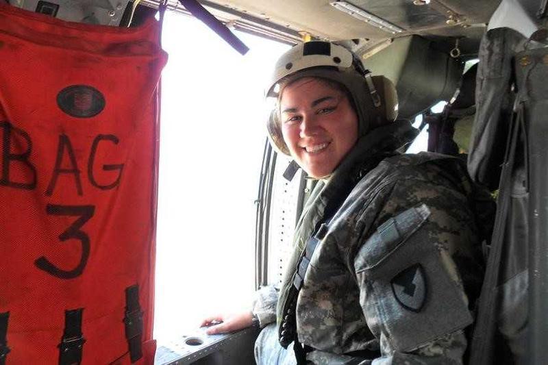 Christine Black on deployment in Kuwait (2011).