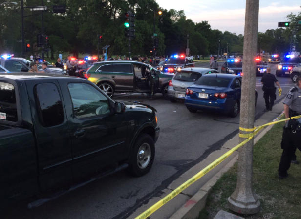 A deputy-involved shooting was reported along Milwaukee's lakefront Sunday evening.