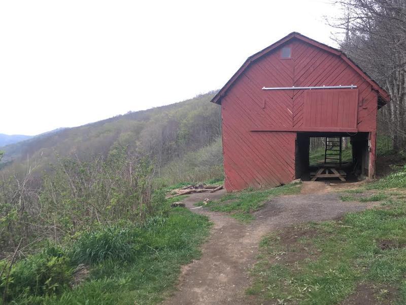 The Overmountain Shelter in Roan Mountain, Virginia.