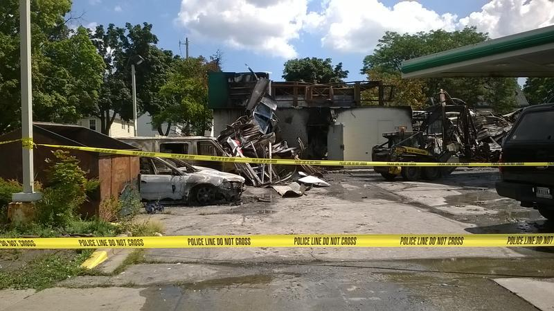 BP Gas Station was burned during the unrest in Sherman Park