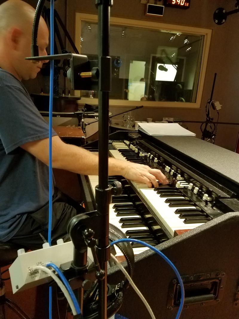 Toby Lee Marshall plays the Hammond B3 Organ with the Koch Marshall Trio on July 18, 2017 in the Lake Effect studio.
