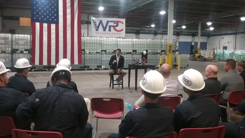 Paul Ryan takes questions from employees at WPC Technologies