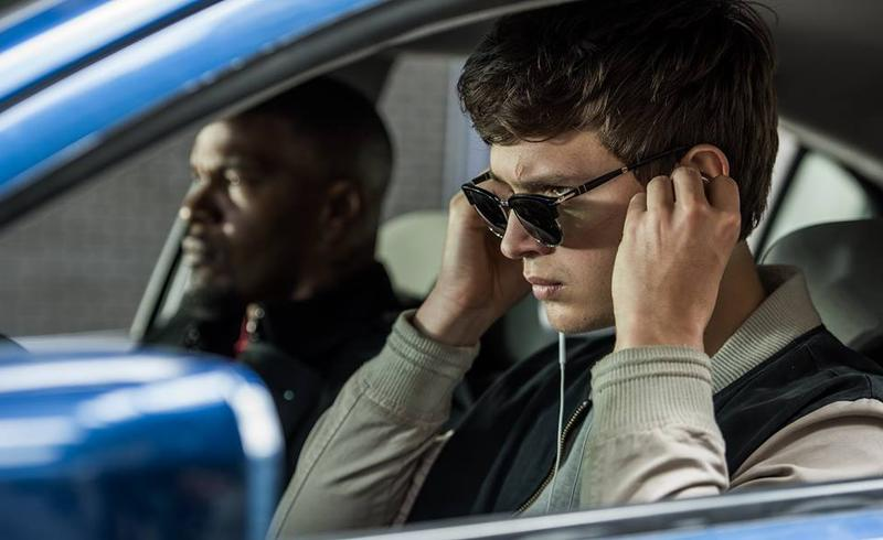 "Jamie Foxx and Ansel Elgort star in ""Baby Driver."""