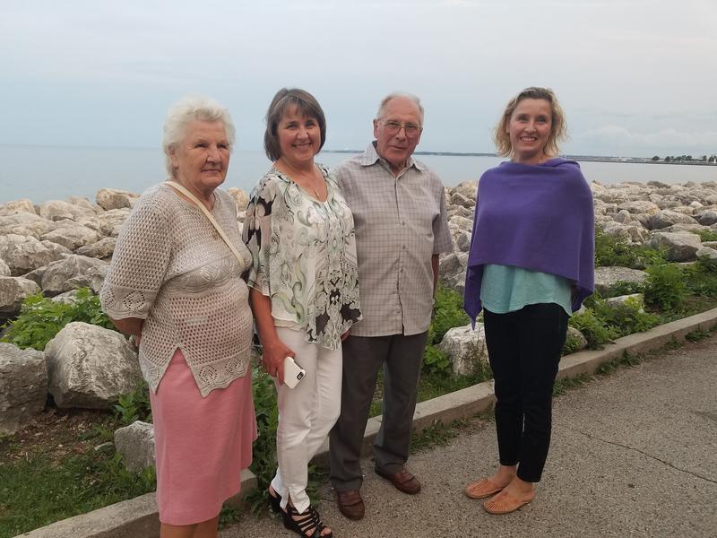 (L to R) Zofia, Ewa, Karol and Basia Fajfrowska, celebrating Zovia and Karol's wedding anniversary