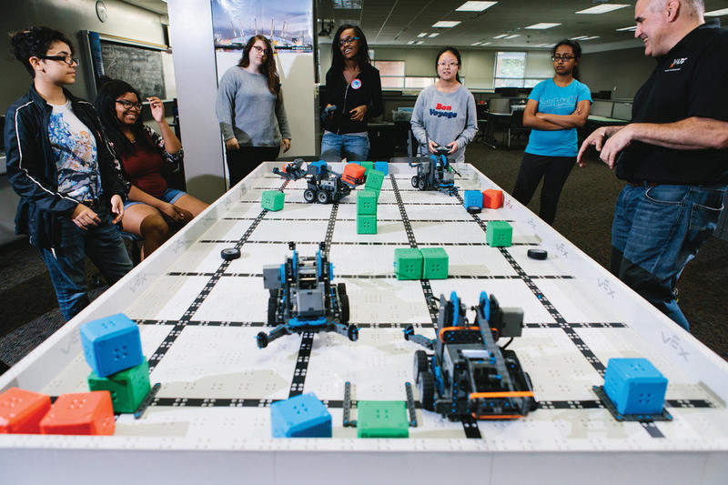 Technical colleges including MATC's Milwaukee campuses are reaching out to students as young as middle and high school, to get them interested in robotics and other growing tech fields.