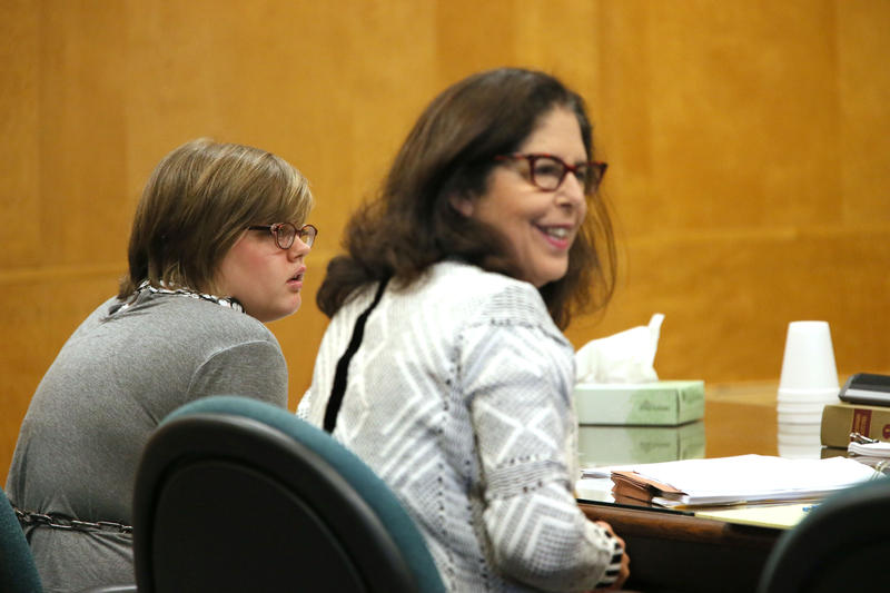 Morgan Geyser in a Waukesha County courtroom on Friday.