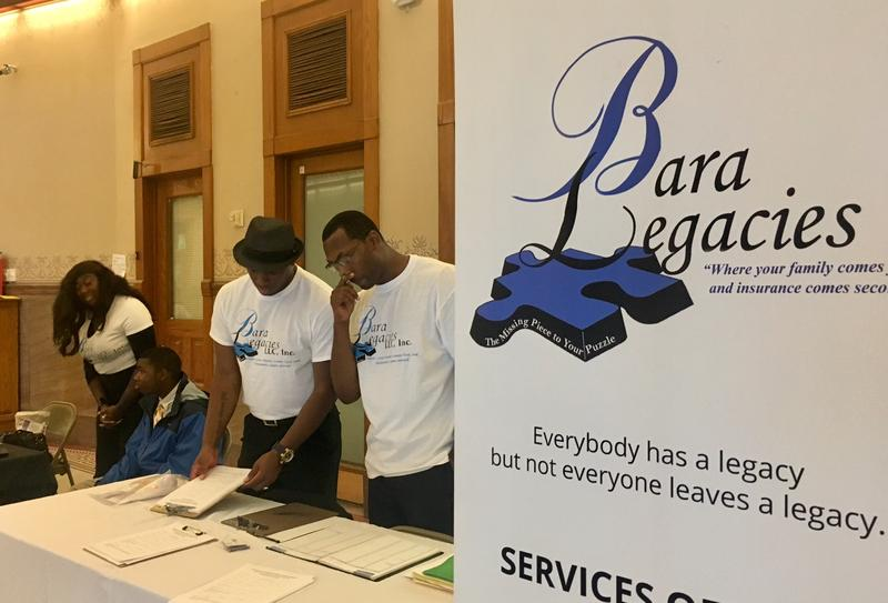 Bara Legacies representatives worked with Mothers Against Gun Violence to stress the importance of life insurance at Friday's event.