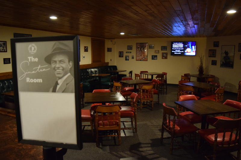 The Sinatra Room at Three Cellars in Oak Creek.