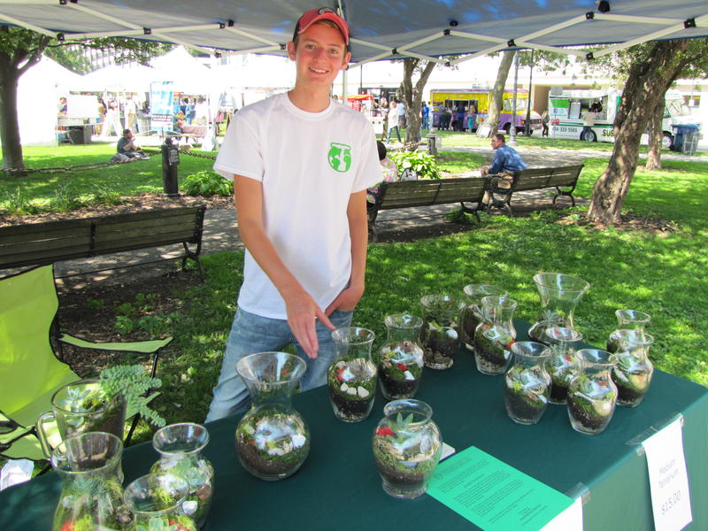Cole Compton and his terrarium business have blossomed.