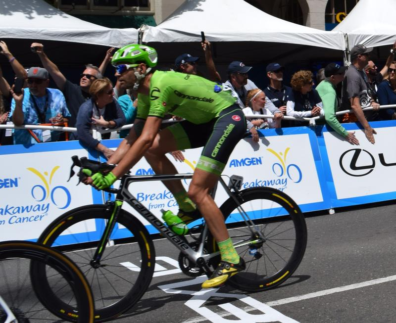 Phil Gaimon, riding for Team Cannondale in the 2016 Tour of California.