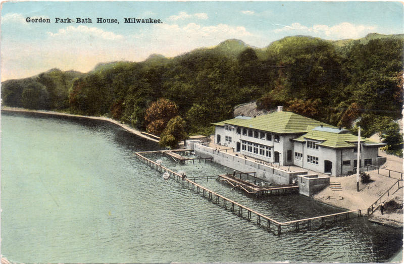 The Gordon Park Bathhouse shortly after it opened to the public.