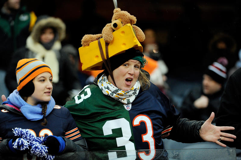 A fan looks on prior to a game between the Chicago Bears and the Green Bay Packers at Soldier Field on December 29, 2013 in Chicago, Illinois.